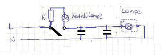 schaltplan wechselschaltung mit einer kontrollleuchte. Black Bedroom Furniture Sets. Home Design Ideas