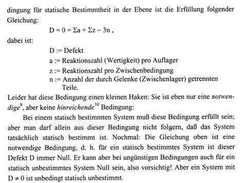 Tm auflager defekt reaktionen statisch bestimmt for Statische bestimmtheit beispiele